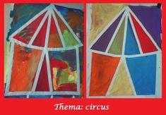 Under the Big Top Paint Over Tape Preschool Circus, Circus Classroom, Circus Crafts, Kindergarten Themes, Circus Art, Circus Theme, Preschool Activities, Carnival Activities, Classroom Ideas