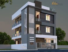 Home plan / House plan Designers online in Bangalore House Outer Design, House Front Design, House Design Photos, Small House Design, Modern Exterior House Designs, Best Modern House Design, Modern House Facades, 3 Storey House Design, Duplex House Design