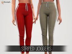 The Sims 4 Elliesimple - Striped Joggers
