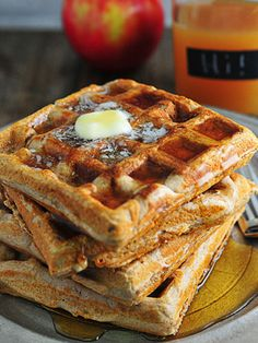 Apple Cider Waffles - in a list of awesome waffle recipes