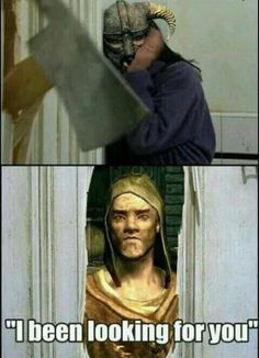 If Fallout has very annoying lieutenants, Skyrim has very annoying couriers. (x-post: /r/skyrim) Elder Scrolls Memes, Elder Scrolls V Skyrim, Skyrim Funny, Skyrim Vampire, Eso Skyrim, Scrolls Game, Video Game Logic, Video Games, Jokes