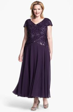 J Kara Embellished Mock Two Piece Gown available at #Nordstrom