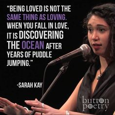 """Sarah Kay, from """"The Type""""."""