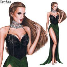 Fashion Model Drawing, Fashion Drawing Dresses, Fashion Illustration Dresses, Fashion Illustrations, Fashion Design Sketchbook, Fashion Design Drawings, Fashion Sketches, Moda Fashion, Fashion Art