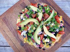 Black Bean, Corn, and Avocado Confetti Pizza (Sumptuous Spoonfuls)