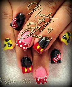Mickey and Minnie Mouse Nails