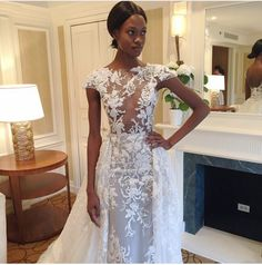 The New York real week is still on, and two days ago, one of the most coveted haute couture designer, Zuhair Murad showcased his wedding dress collection and can we just say wow!! As usual, he brought the same ultra chic style with impeccable details to his dresses! Get ready to swoon….  So, which …