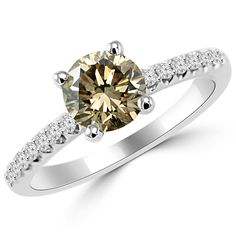 Jewelry Point - 1.28ct Round Champagne Brown Diamond Engagement Ring, $2,870.00 (http://www.jewelrypoint.com/1-28ct-round-champagne-brown-diamond-engagement-ring/)