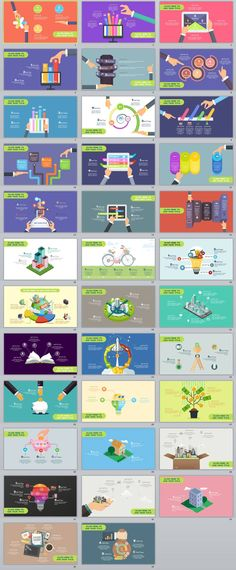 Business infographic & data visualisation multicolor cartoon infographics PowerPoint Template on Behance Infographic Description Web Design, Design Sites, Slide Design, Design Layouts, Brochure Design, Keynote Presentation, Design Presentation, Slide Presentation Template, Creative Presentation Ideas