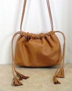 Enzo Angiolini Soft Leather Camel Bag
