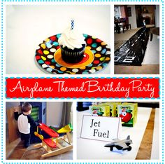 Airplane themed party (on a budget)