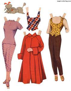 MAGIC-COLORING | Doris Day Paper Dolls3