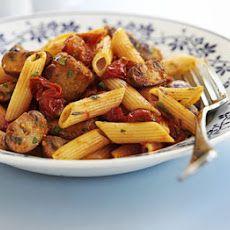 Sausage, Mushroom & Tomato Pasta
