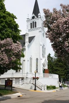 St Anne's Church on Mackinac Island. I  met Christopher Reeve here when he was filming Somewhere In Time.