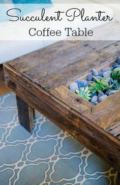 New Pallet Patio Table Planters 69 Ideas Coffee Table Terrarium, Garden Coffee Table, Outdoor Coffee Tables, Diy Coffee Table, Patio Table, Pallet Patio, Pallet Door, Plant Table, Reno