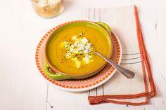 Sopa de moranga com gorgonzola. Panelinha. Delícia!!!!!!