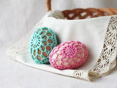 Easter egg Choose your color Pastel Easter by 100crochetnecklaces, $9.00