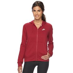 Women's Nike Full-Zip Fleece Hoodie, Size: Medium, Brt Pink