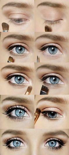 comment faire un maquillage des yeux bleus
