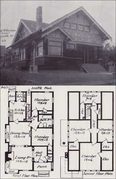 [ Bungalow Blueprints Joy Studio Design Gallery Best Small House Plans And Floor Plan ] - Best Free Home Design Idea & Inspiration Farmhouse Floor Plans, Craftsman House Plans, Craftsman Style, Craftsman Kitchen, Farmhouse Style, Farmhouse Decor, Bungalow Exterior, Craftsman Bungalows, Vintage House Plans