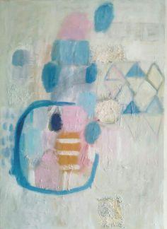 Kobus,  Małgorzata, abstract painting, oil on canvas 50/70cm, Quinn of snow
