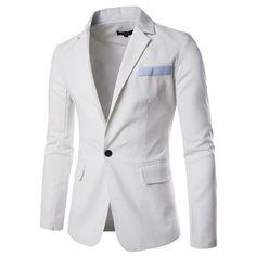 Casual Blazers Mens Blazers Slim Fit Blazer Men's Clothing