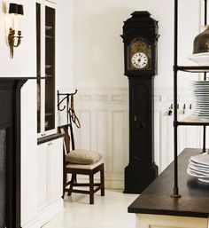 This room is by Darryl Carter, but click on the picture to take you to the blog posting about Time and see some amazing rooms decorated, it seems, around clocks. Many styles to fit many tastes. Wonderful...