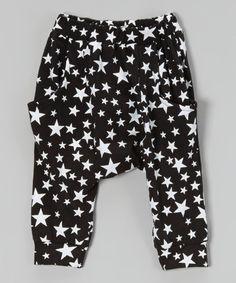 Another great find on #zulily! Black Star Harem Pants - Infant, Toddler & Girls #zulilyfinds