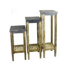 3 Piece Multi-Tiered Plant Stand Set by Wayfair