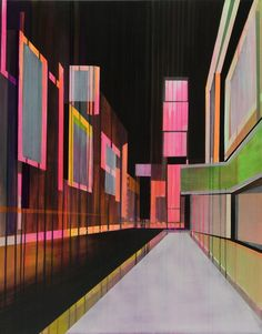 """Saatchi Art Artist: Cécile van Hanja; Oil 2007 Painting """"Glow in the dark"""""""