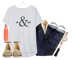 """""""In & out•#276"""" by sweet-carol ❤ liked on Polyvore featuring S'well, Kate Spade, J.Crew, MANGO, Coye Nokes, Vanities and MAC Cosmetics"""