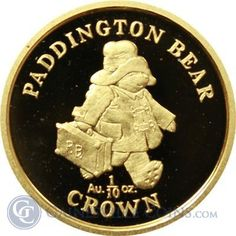 1998 Gibraltar oz Proof Gold Coin - Paddington Bear (Mintage of only