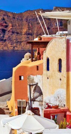 Colours of Santorini.