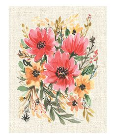 Take a look at this Boho Flowers Print today!