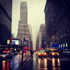 Snowing @Affinia Manhattan