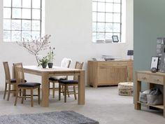SILKEBORG tafel + SILKEBORG stoelen + SILKEBORG sidetable + SILKEBORG dressoir | JYSK #JYSK #woonkamer #inrichting