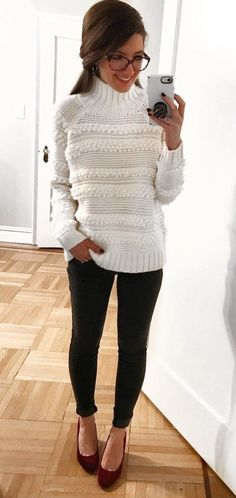 Beautiful Winter Outfits Ideas With Sweaters 38