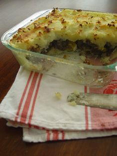 Pastel de Papa: Argentinean Shepherd's Pie  (You can use leftover mashed potatoes - assuming you have any.)
