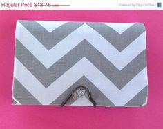 SALE  COUPON  Organizer  Holder  Keeper   Gray Chevron by Laa766, $13.25