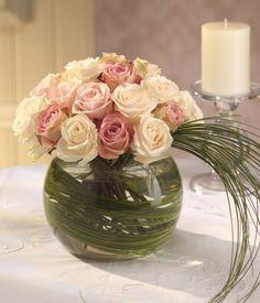 pastel flower centerpieces