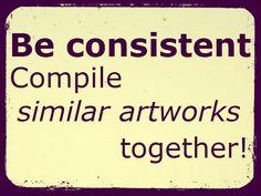 Be consident - Compile similar artworks together!