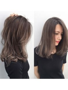 Perfect length & layer for middle length hair style. Brown Hair Balayage, Brown Hair With Highlights, Brown Blonde Hair, Ombre Hair, Medium Hair Cuts, Medium Hair Styles, Short Hair Styles, Korean Hair Medium, Korean Hair Color Brown
