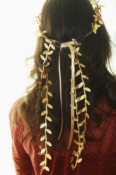BRIDES! Toga-Party-Roman-Headdress-Laurel-Leaf-Headband-Hairband-Garland-Wreath
