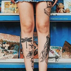 New post on tattinitup Shin Tattoo, Knee Tattoo, Arm Tattoo, Badass Tattoos, Body Art Tattoos, Girl Tattoos, Tatoos, Sorry Mom Tattoo, Tattoo Now