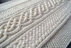 Celtic blanket knitting pattern. As if I'll ever be able to do all that. *sigh* Cable knitting is so gorgeous.