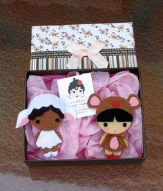 El fieltro en mis manos: Miyu,muñecas kawaii de la suerte