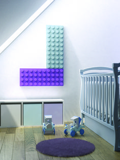 Leagoo designer radiator: a playful Lego styled radiator. It can be installed vertically or horizontally. This charming colourful designer radiator is very suitable for children's rooms.