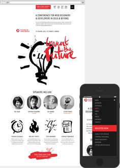 example of web/app design for portfolio display