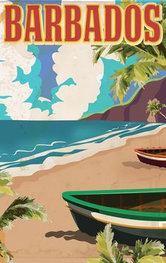 Barbados Travel Poster by Nicholas Green