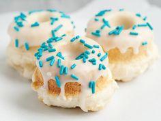 Baked Vanilla Doughnuts with Vanilla Glaze